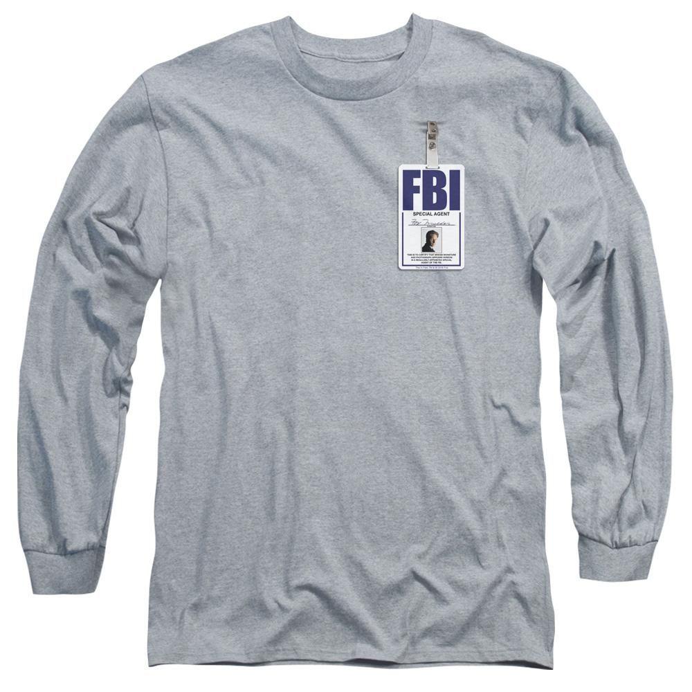 X Files Mulder Badge Adult Tank Top