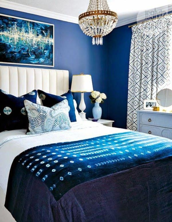 Blue bedroom design idea decor lamp wall accent nighlsee mattress sofa comfortable for back pain bedroomlamps also rh pinterest