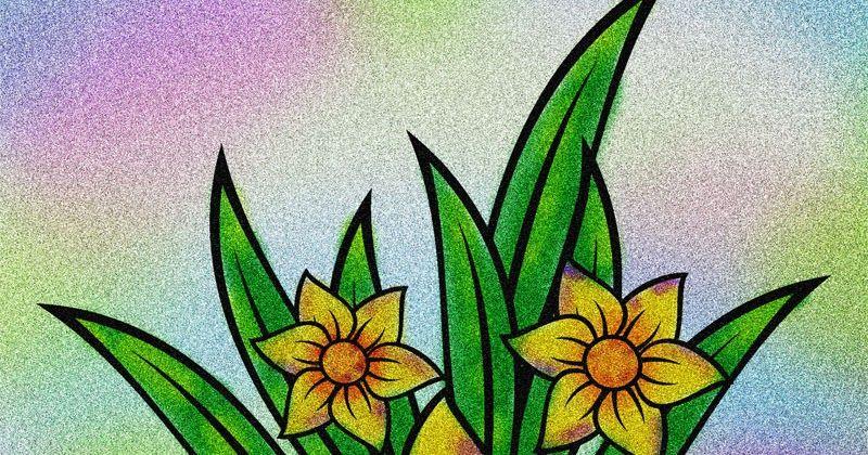 Contoh Mewarnai Gambar Bunga Warna Bunga Gambar