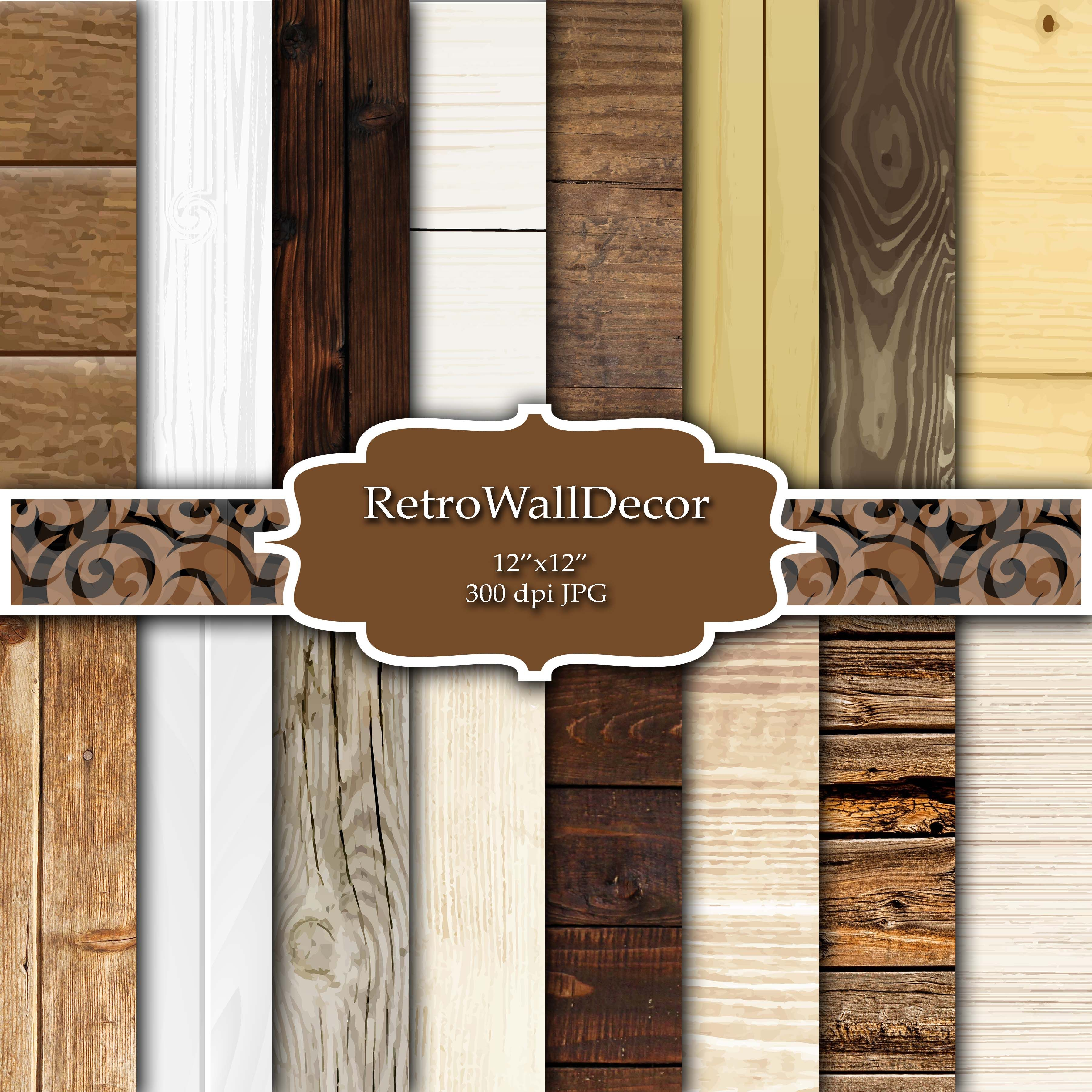 Rustic Wood Digital Paper Graphic By Retrowalldecor Creative Fabrica Digital Paper How To Distress Wood Paper Floral