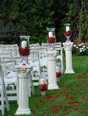 Striking Red Rose Petals   Perfect wedding venue, Wedding ...