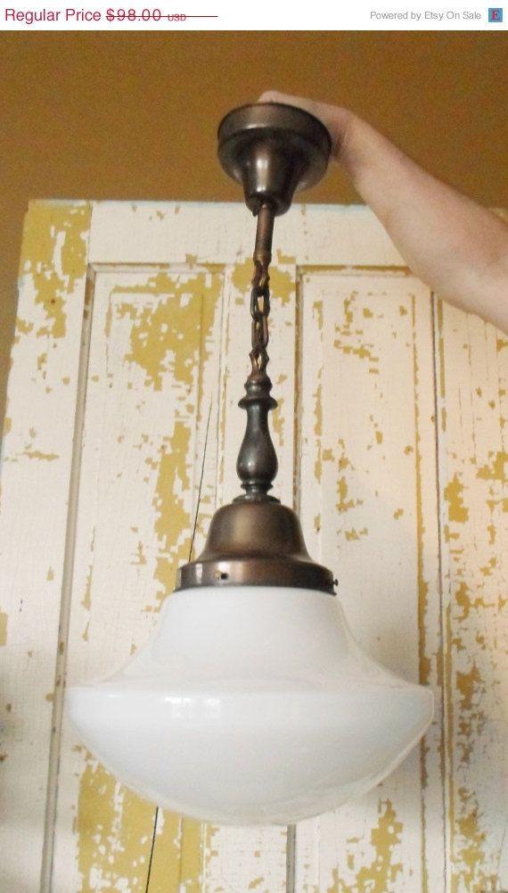 Spring Antique Greybar Lighting Schoolhouse Style Light