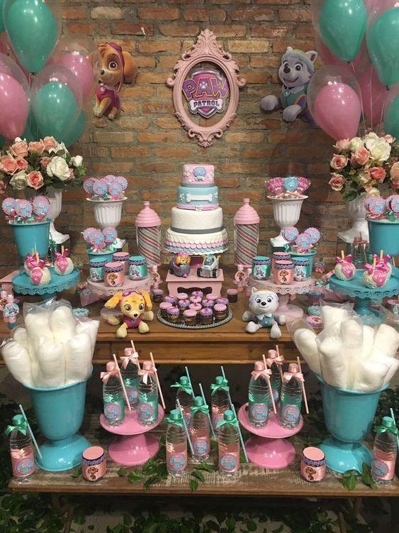 Ideas para decorar candy bar paw patrol candy bar de paw - Ideas decoracion bar ...