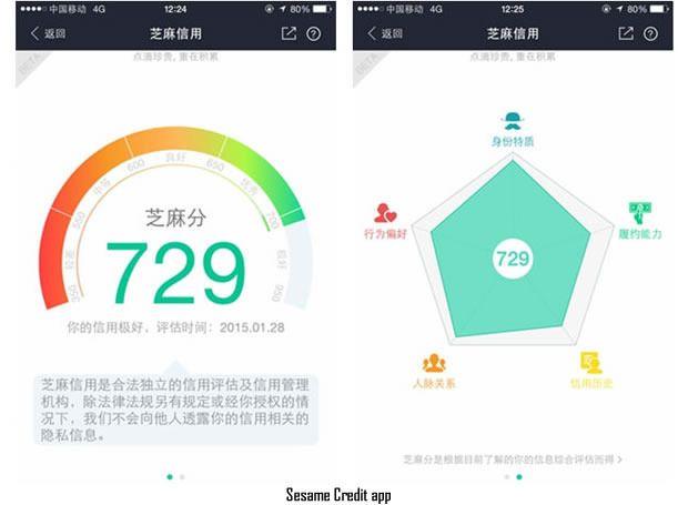 Chinese Social Credit System Sesame Credit Scoring System Credit Score Data Visualization