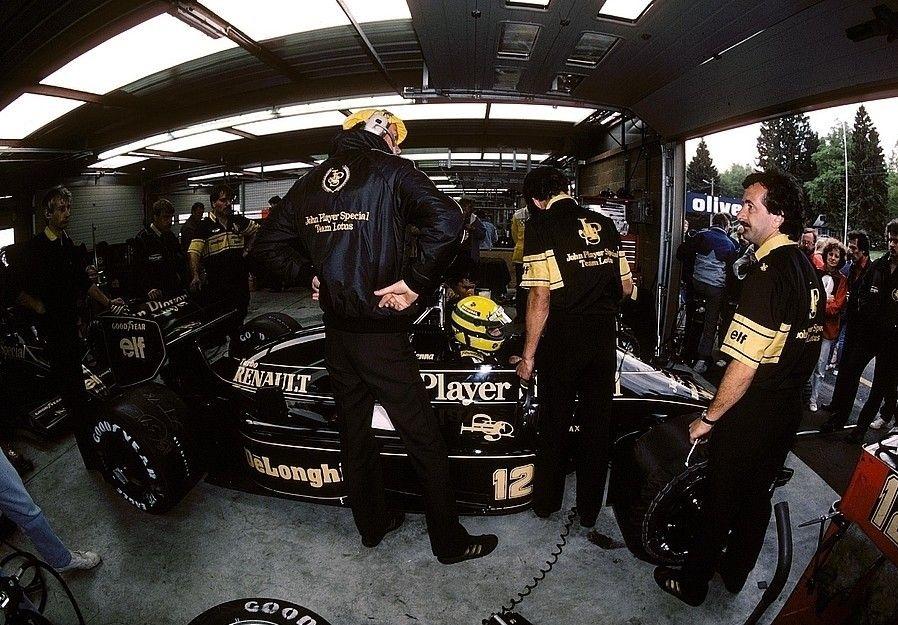 Ayrton Senna su Lotus - Renault 1986