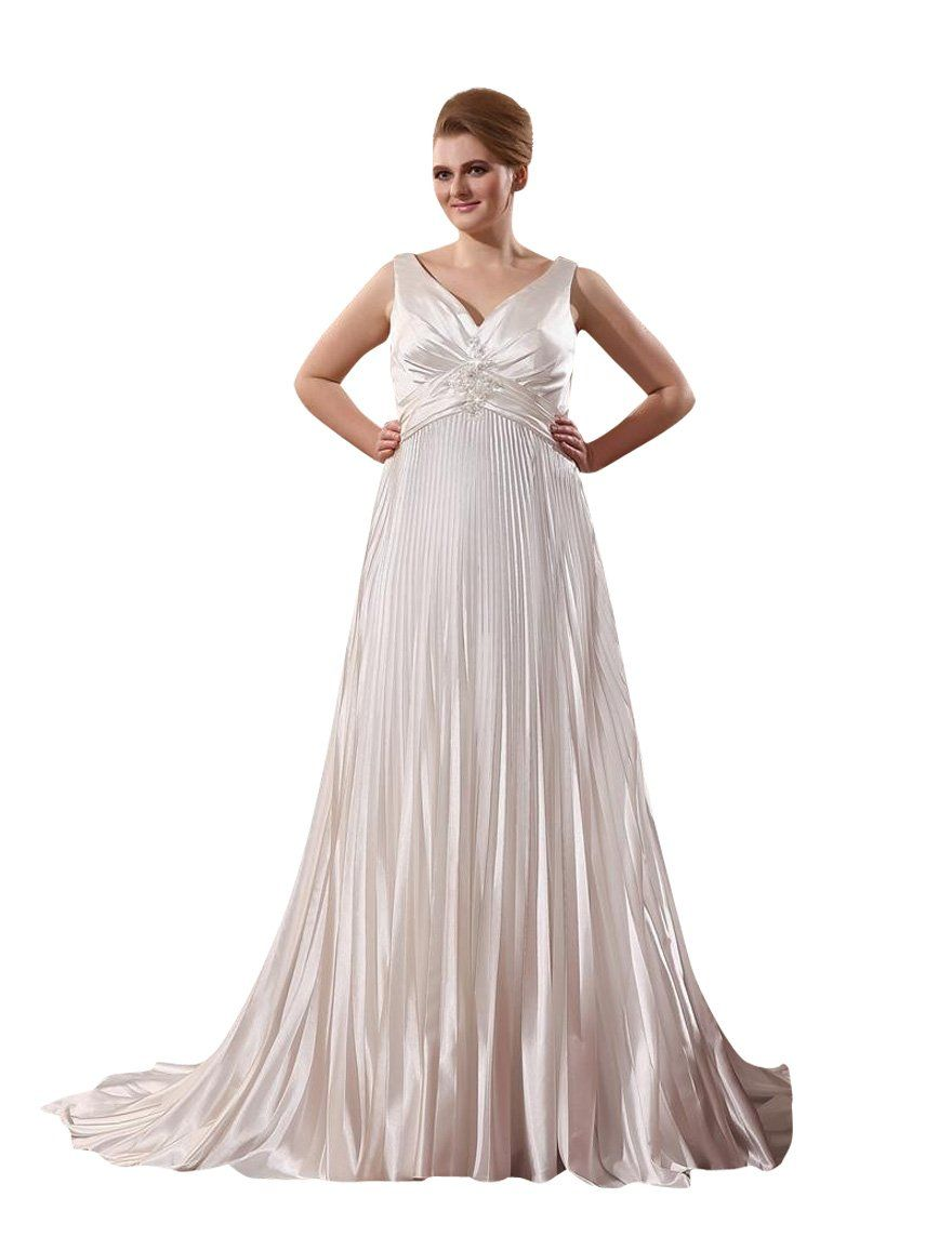 Jolly Bridal Charmeuse Ruffle Wedding Dresses Plus Size At Amazon Women S Clothing Store Ruffle Wedding Dress Dresses Wedding Dresses Plus Size [ 1144 x 880 Pixel ]