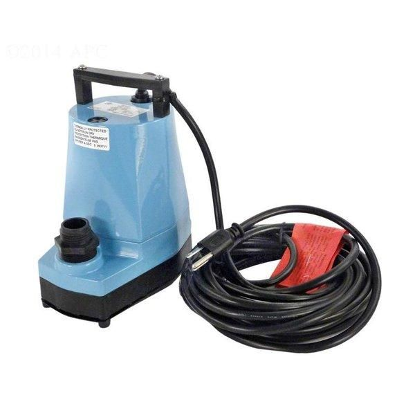 Water Wizard Pool Cover Pump with 25' Cord, 1200 GPH