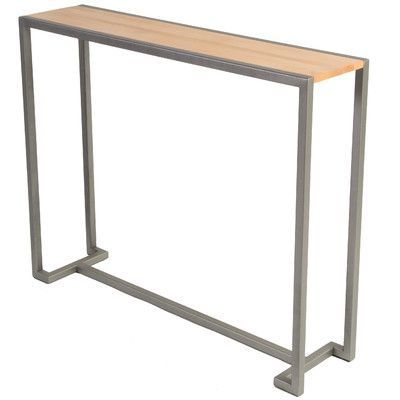 Sterk Furniture Company Union Console Table Base Finish: Flat Iron, Top Finish: Hickory