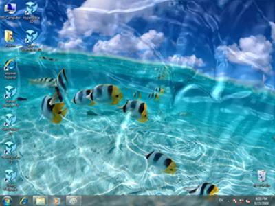 Watery Desktop 3D screenshot 1 Gambar, Liburan, Ikan