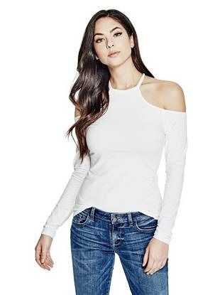 b546d533f229e7 Jasmine Cold-Shoulder Top