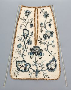 18th century embroidered pocket - Google Search
