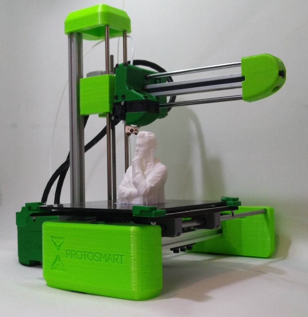 Easy To Assemble 2020 3d Printer By Protosmart Thingiverse 3d