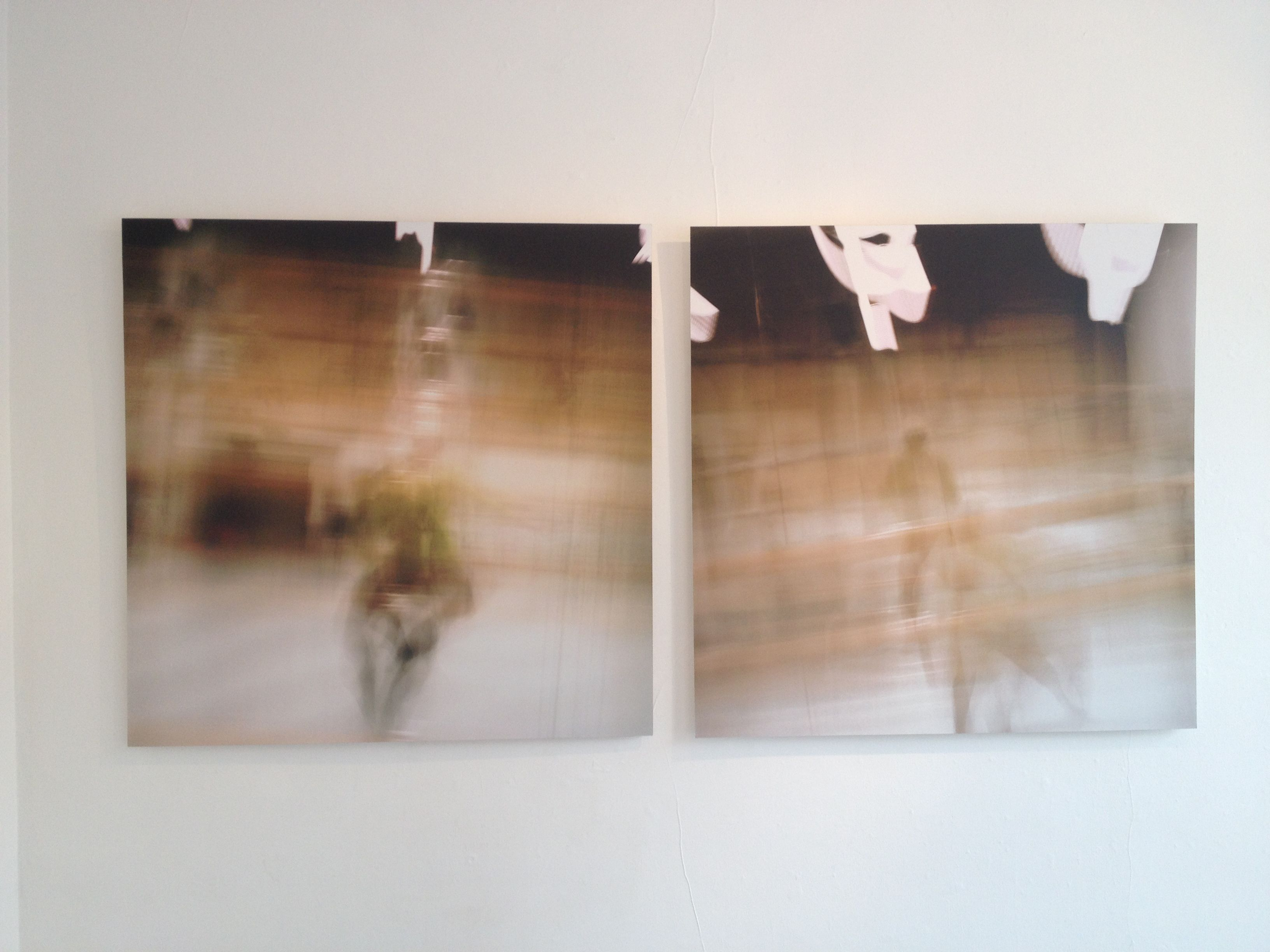 Two large scale photographs by Fiona Harvey.