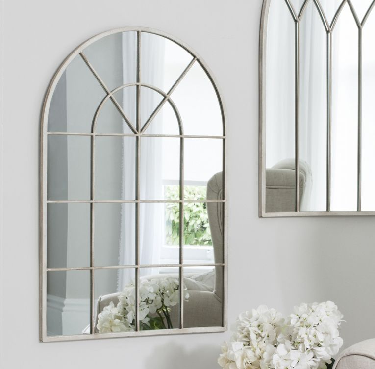 Shabby Chic Arched Window Mirror | Arch, Window and Shabby