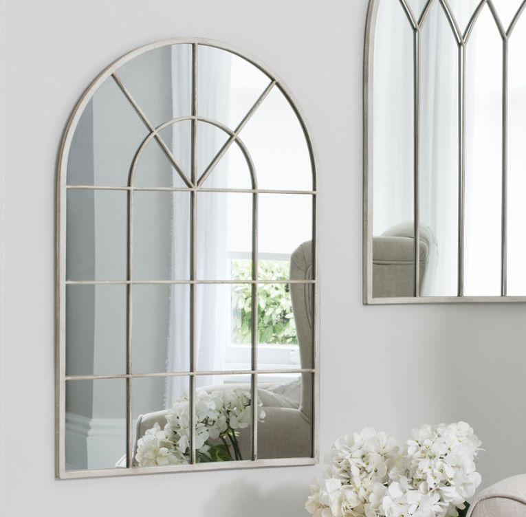 shabby chic arched window mirror - Mirror Window Frame