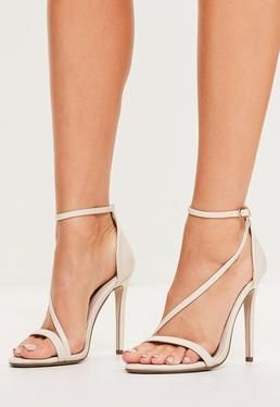 4b607d6cc4b Nude Asymmetric Strappy Sandals