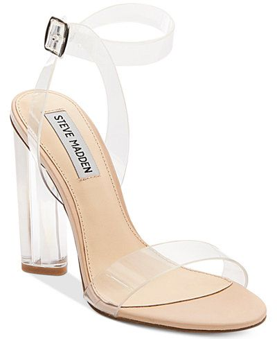 f08a49df655 Steve Madden Women's Teena Lucite Dress Sandals | Fashion | Modern ...