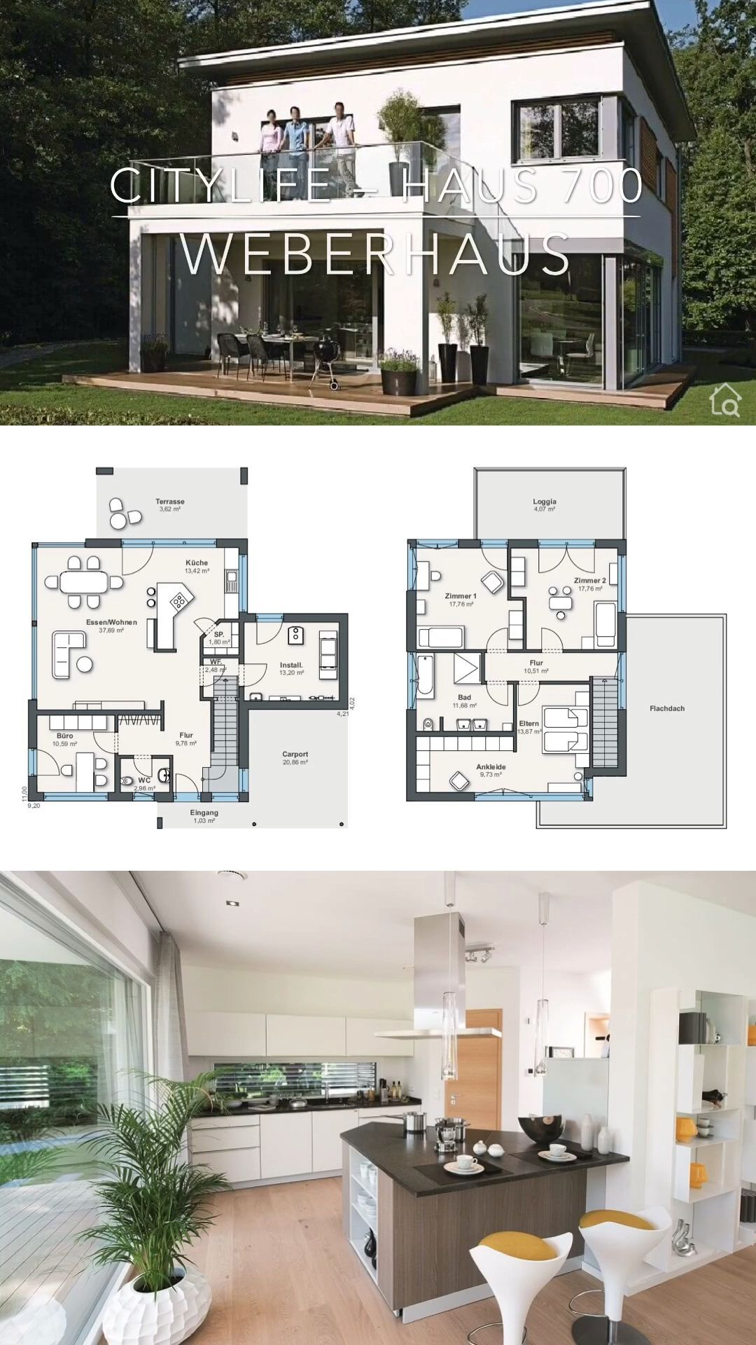 Detached House Villa 5 Room Prefabricated House In The Pent Roof House Ideas With Floor Plan Architectural House Plans Modern House Plans Modern Family House