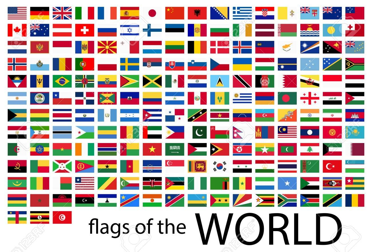 Collection Of Flags From All National Countries Of The World Illustration Affiliate National Flags Flags Of The World All Country Flags All World Flags