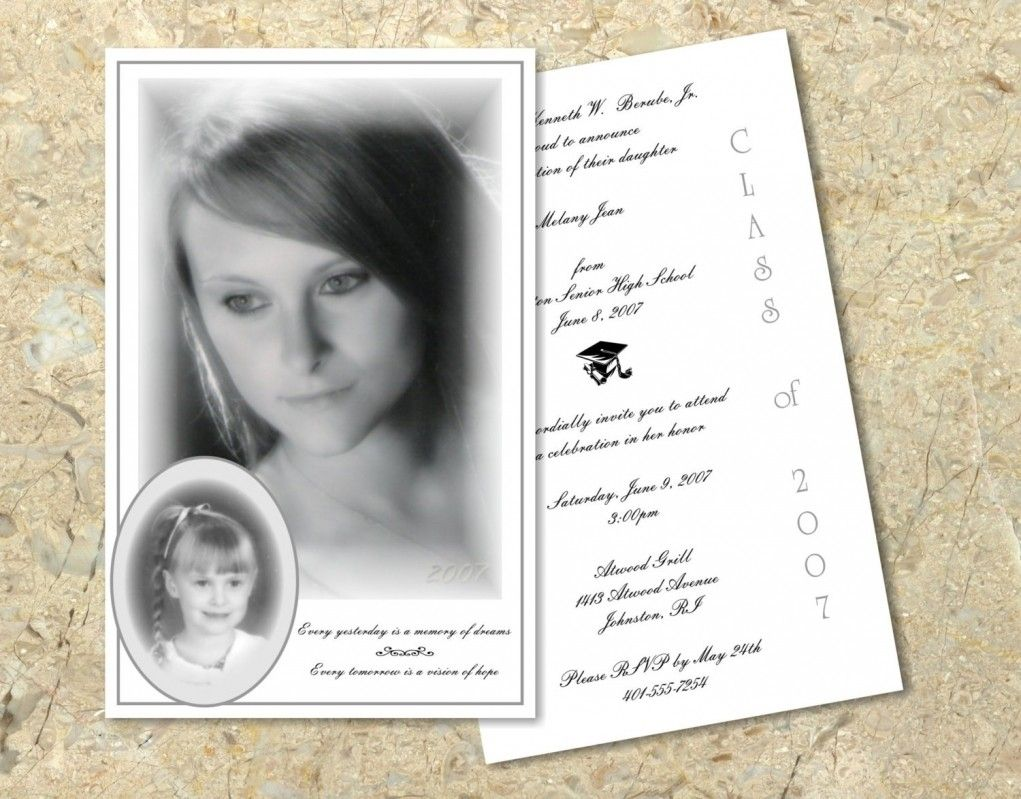 Comprehensive image in printable graduation announcements