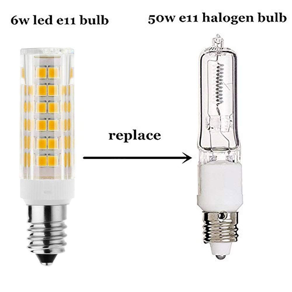 Dimmable E11 Led Bulbwarm White 3000k6w Equivalent To 60w Halogen Bulb360 Omnidirection Beam Angleac 110v 120v 130v Info In 2020 Led Bulb Halogen Bulbs Light Bulb