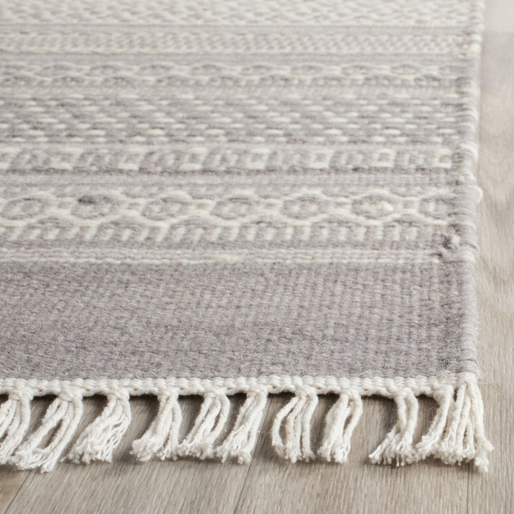 Safavieh Hand-Woven Kilim Grey Wool Rug (8' x 10') - Free Shipping Today - Overstock.com - 18659637 - Mobile