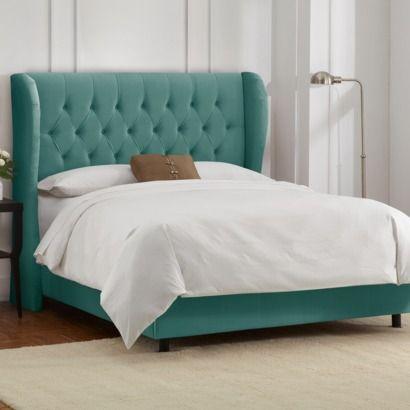 Brompton Tufted Wingback Velvet Uphlolstered Bed | Home Dec ...