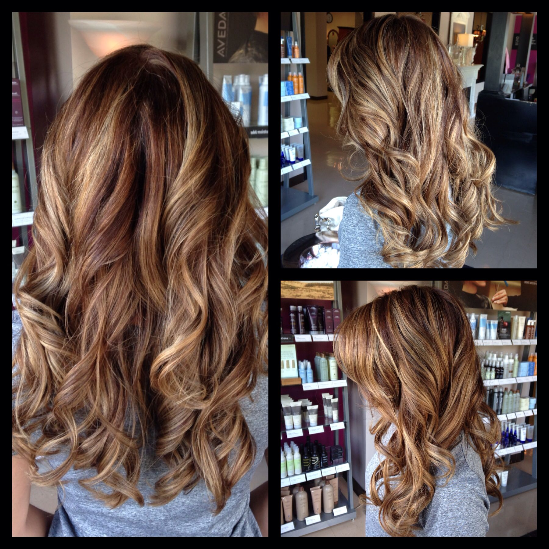 Warm Honey Browns Highlights And Lowlights Aveda Color