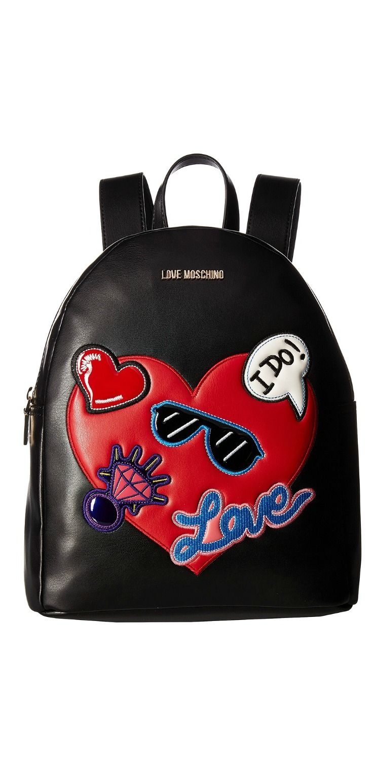 Patched Backpack - Only One Size / Multi Moschino 100% Guaranteed Inexpensive Cheap Price Discount With Paypal NgCe9W