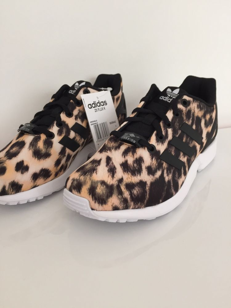 sports shoes 7b3cc 8d26b Leopard Print Adidas ZX Flux   Limited edition Adidas ZX Flux Leopard Print  size UK 1 - UK 6.5   eBay