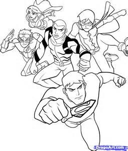 Justice Robin Coloring Pages Young Justice Coloring Pages Mewarnai