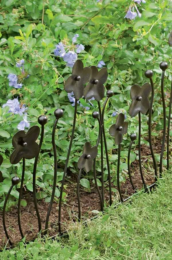 Garden Edging Ideas Border Fence Edging Wrought Iron Flower Detail Garden  Decorating Ideas