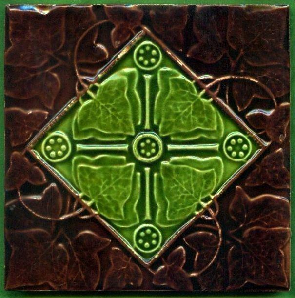 Decorative Tile Art Jugendstil Fliese Kachel Art Nouveau Tile The Decorative Tile