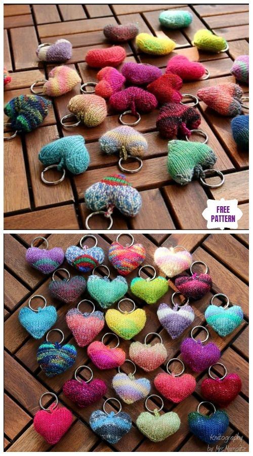 Photo of Knit Heart Softies Free Knitting Patterns