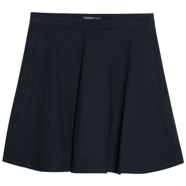 Mango Elastic Skater Skirt, Black (28 CAD) ❤ liked on Polyvore featuring skirts, black elastic skirt, black flare skirt, elastic skirt, mango skirt and skater skirt