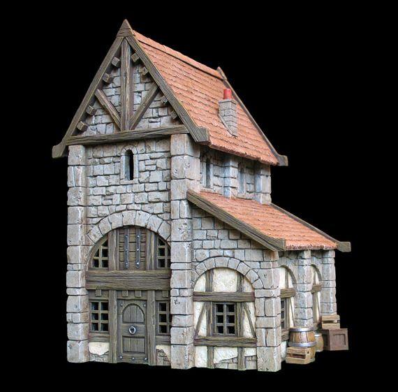 Maison médiévale n°5(Kit résine éch: 30mm)