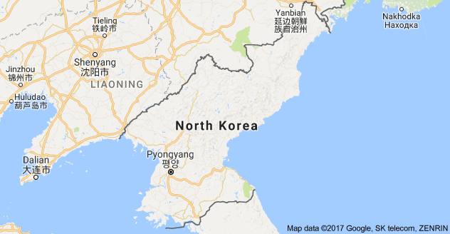 This is what North Korea on a map looks like It is located in Asia