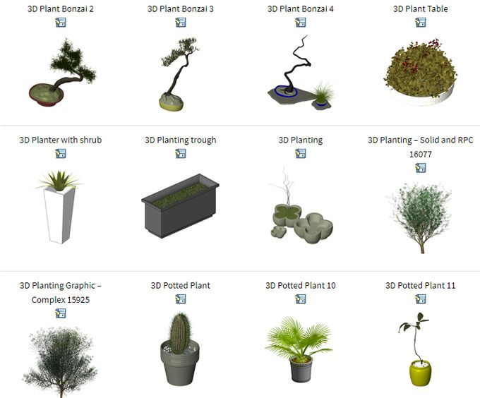 Download Revit Plant Families