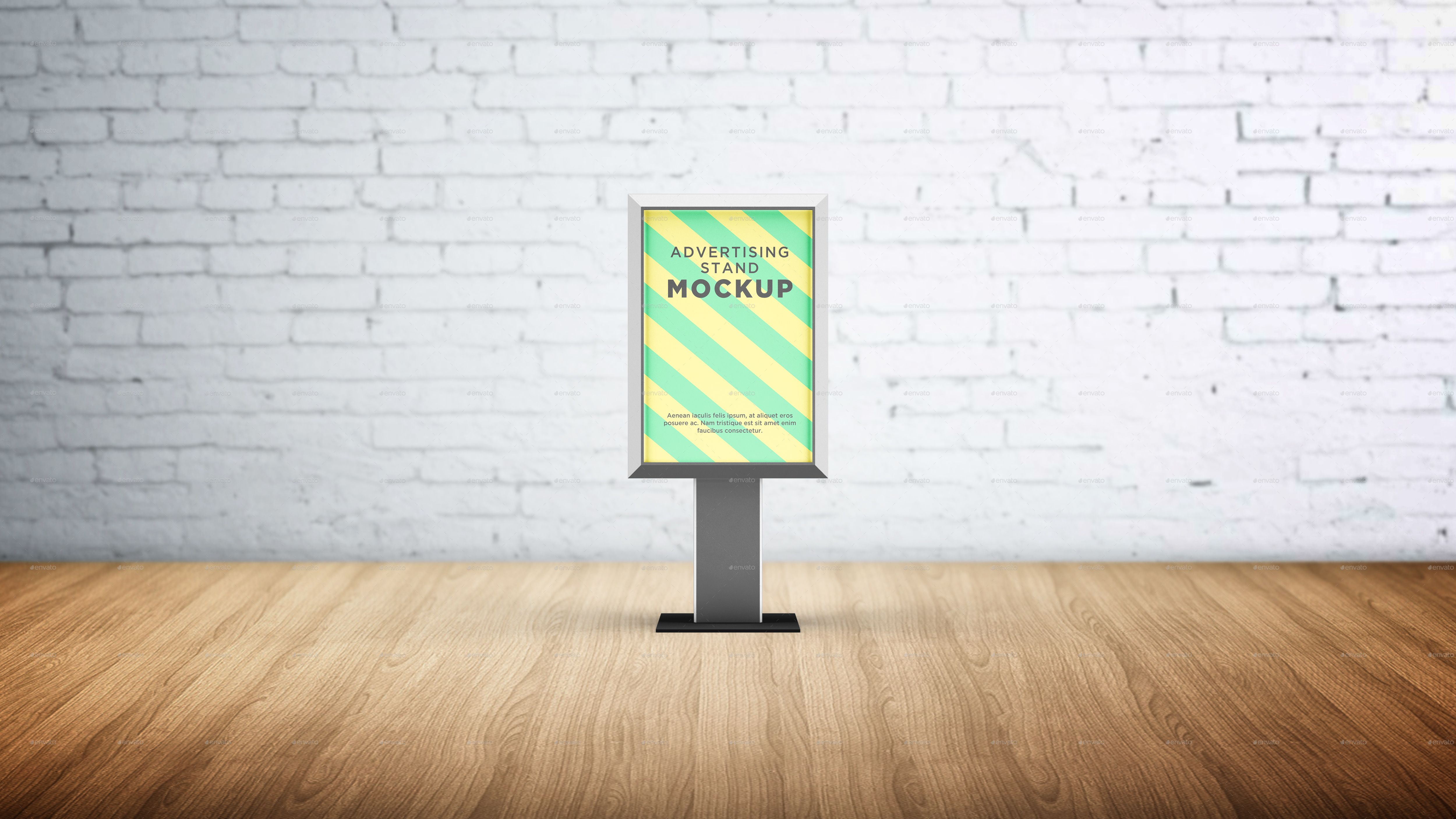 vertical advertising stand mockup