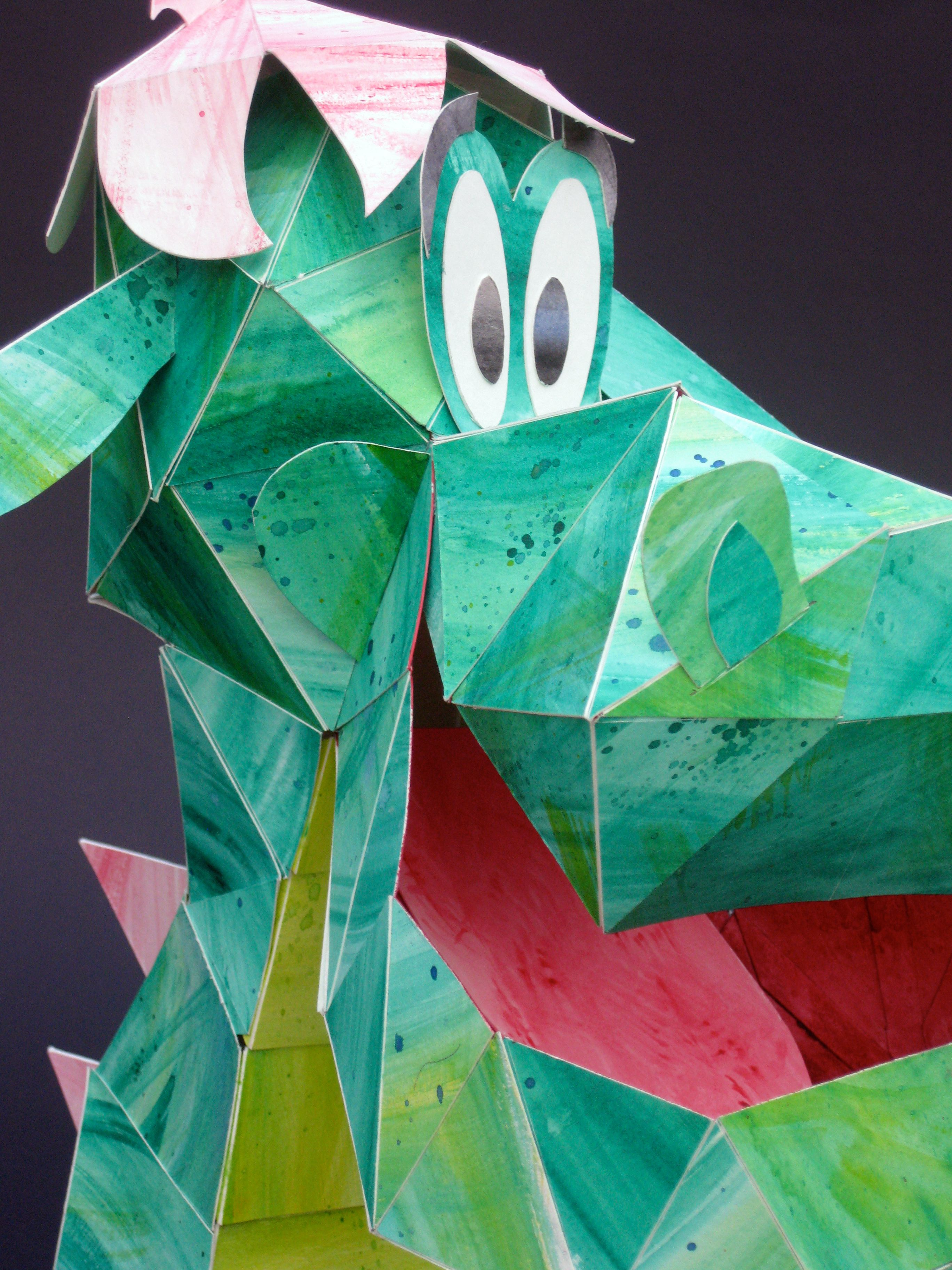 Paper Sculptures Made Of Painted Watercolor Paper I Created Goofy