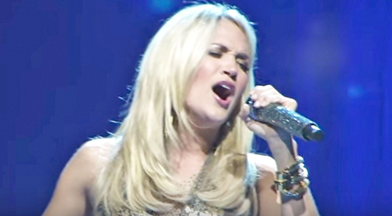 Carrie underwood takes us to church with jesus take the