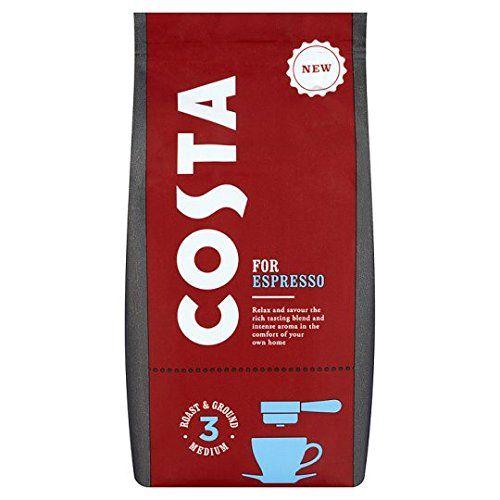 Costa Coffee Ground Coffee For Espresso 200g British Want