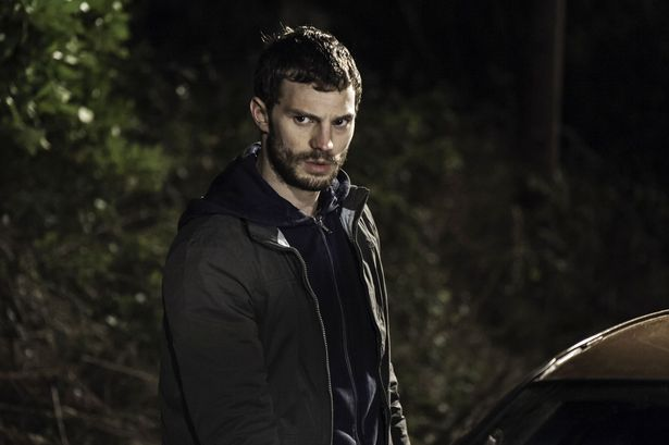 Jamie Dornan is back in Northern Ireland as he happily poses with fans during filming for The Fall - Belfast Live