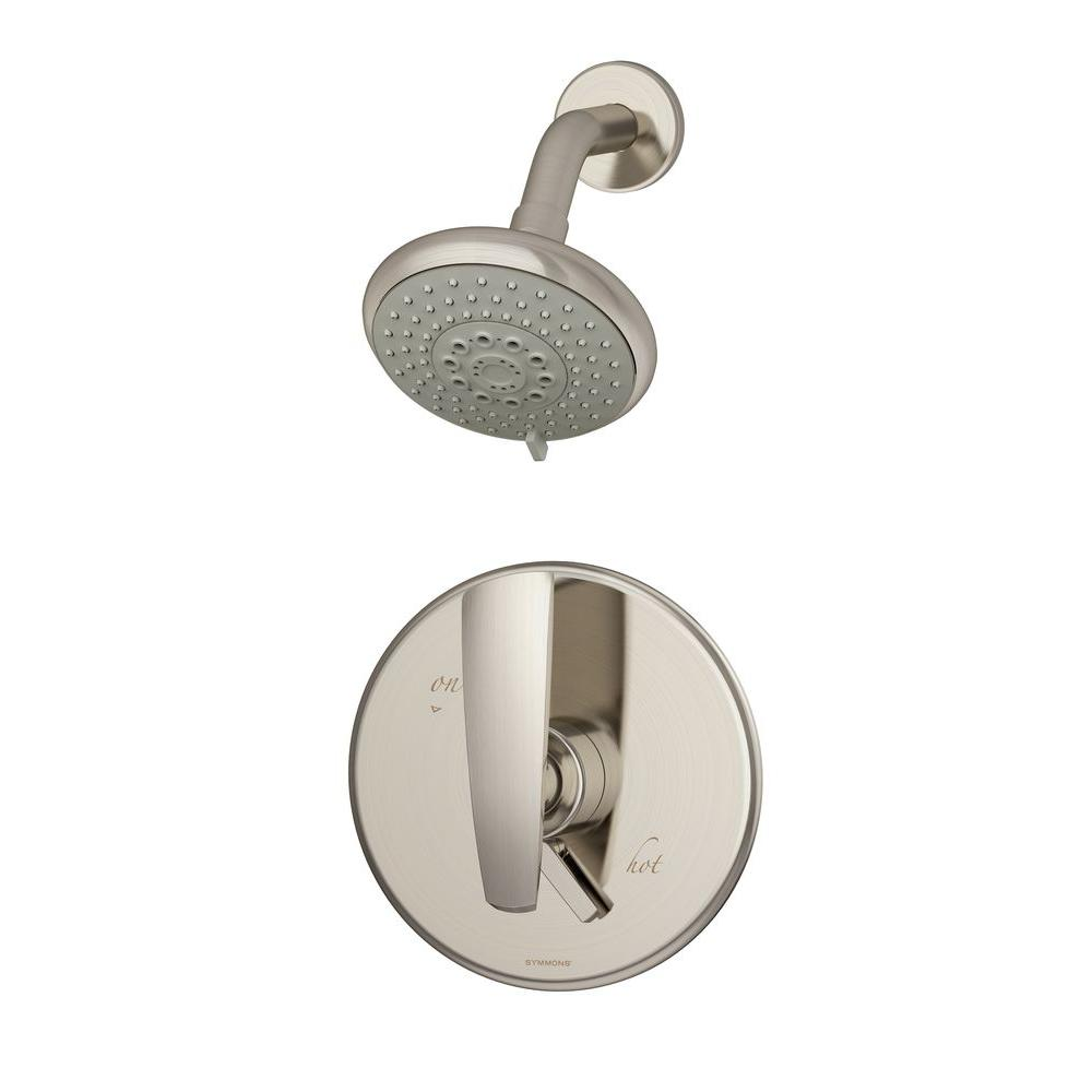 Symmons Naru 1 Handle Shower Faucet Only In Satin Nickel Valve