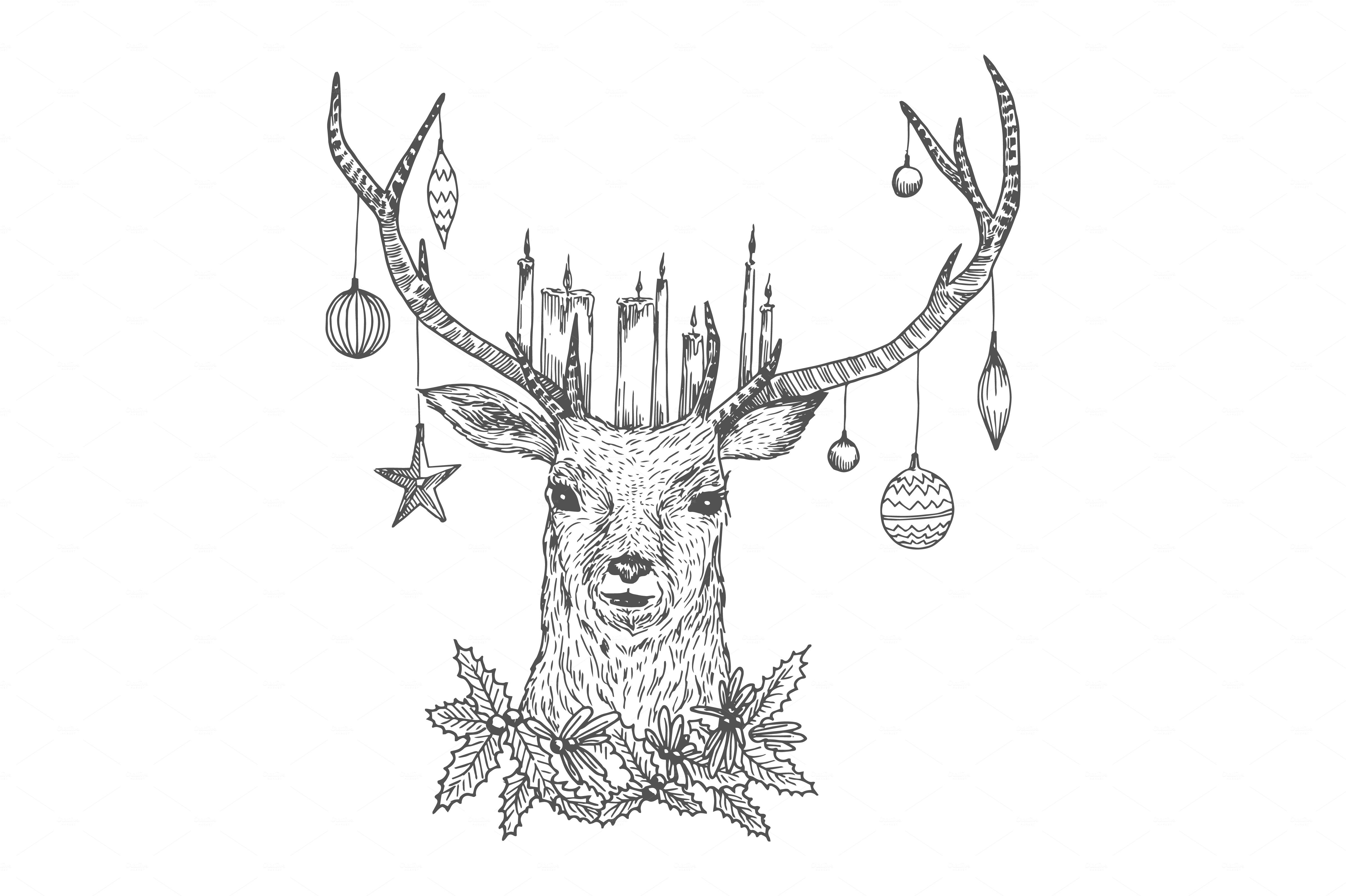 Deer Drawing Hipster