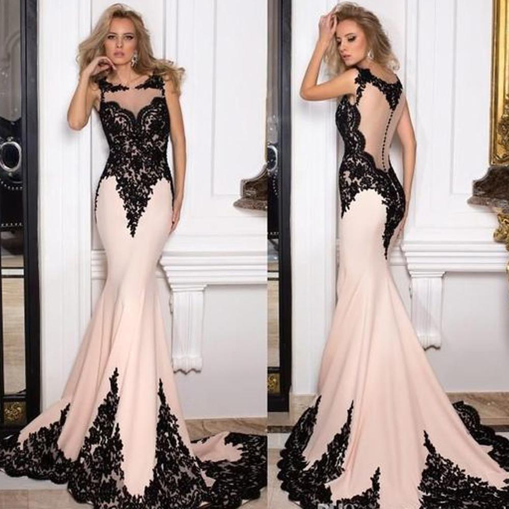 mermaid prom dresses 2020 lace appliques satin evening ...