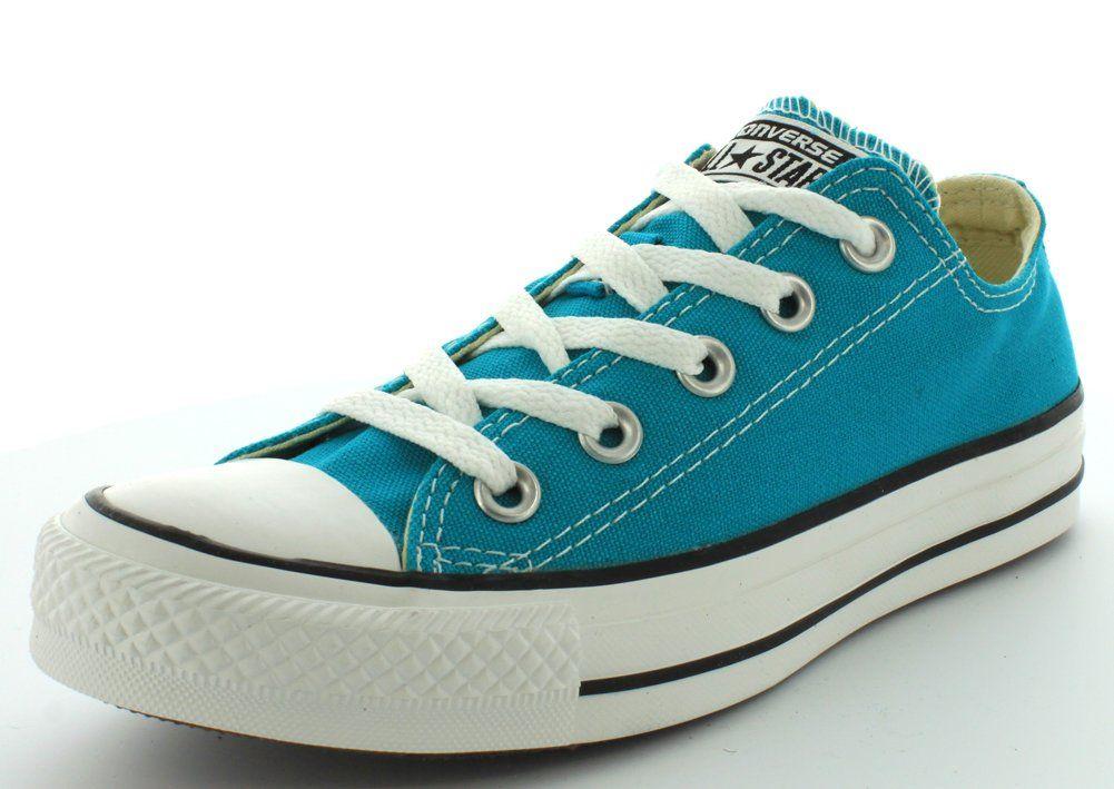 71a460272eef9c CONVERSE Women s Chuck Taylor Low Top Sneaker (Mediterranean Blue 11.0 M)