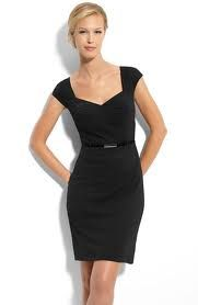758feac54e8a Tahari by Arthur S. Levine Belted Ponte Knit Sheath Dress in Black (Spring  2011)