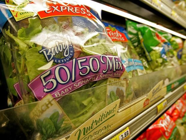 Broken salad leaves dramatically increase risk of salmonella, study shows. Experts warned consumers to avoid ready-cut salad if possible, to rinse bagged salad thoroughly, and not to let it get warm.
