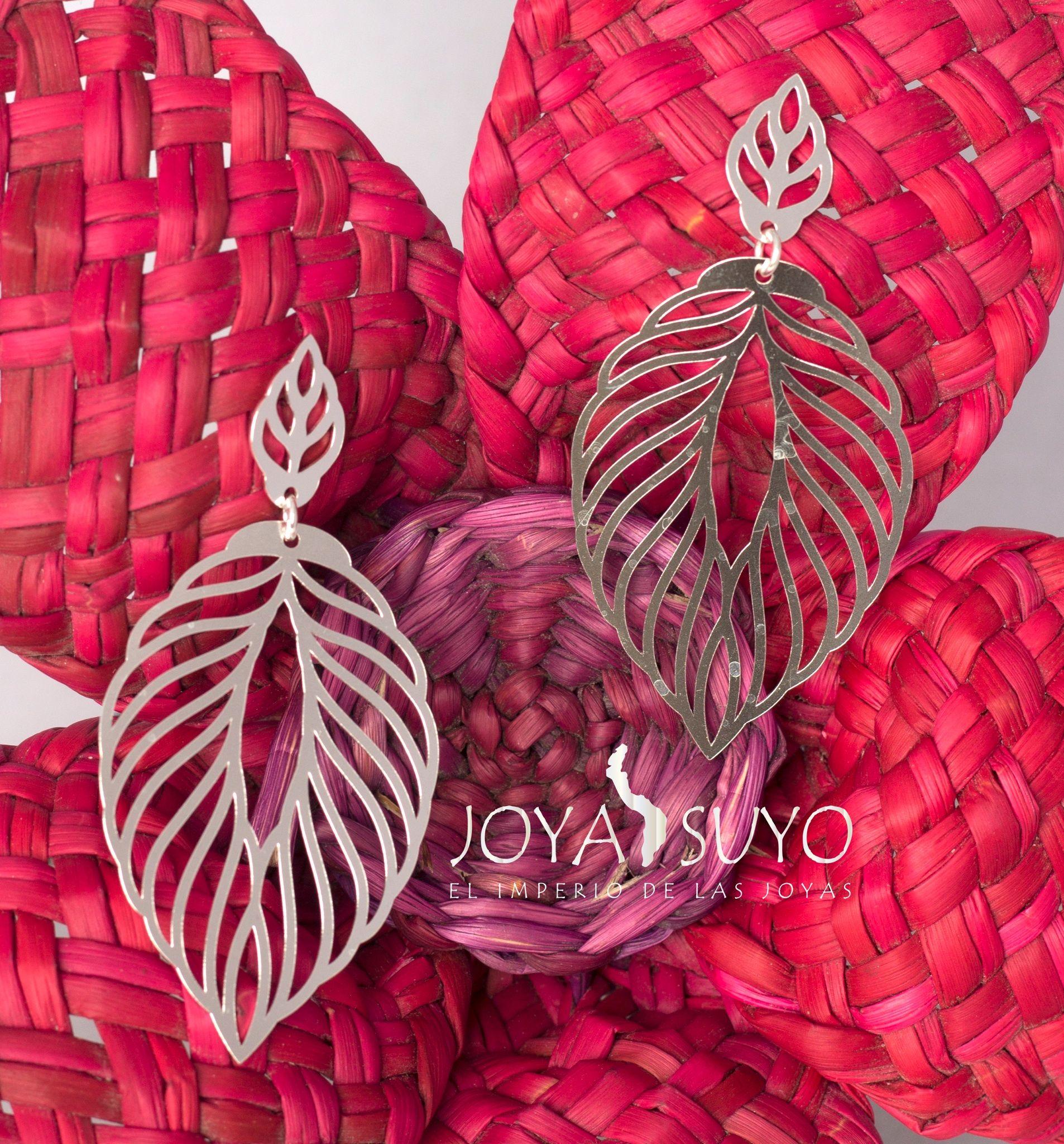 c0655758da55 Aretes colgantes hojas S . 80 www.joyasuyo.com